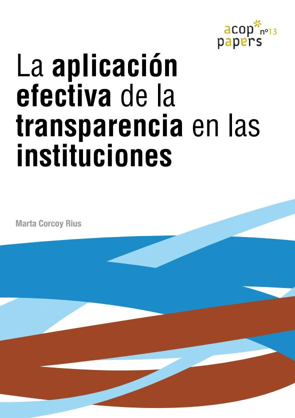 Nº13: Marta Corcoy: La aplicación efectiva de la transparencia en las instituciones