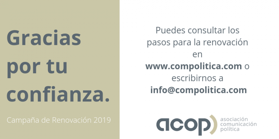 Campaña de Renovación de Socios ACOP 2019